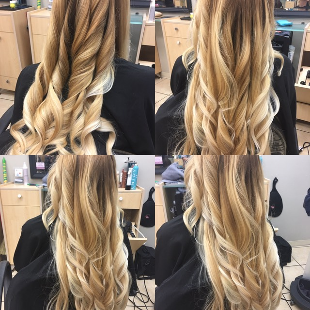 Hair coloring on extreme long thick hair
