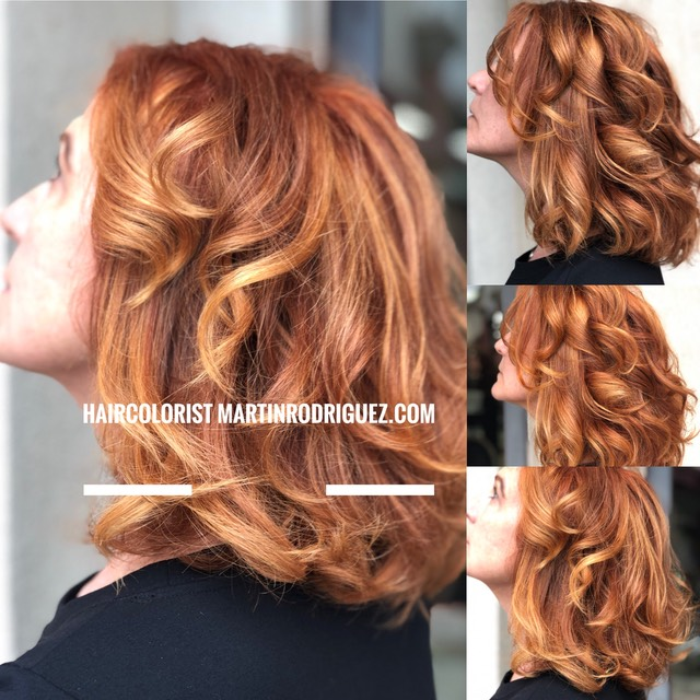 copper reds with golden ends