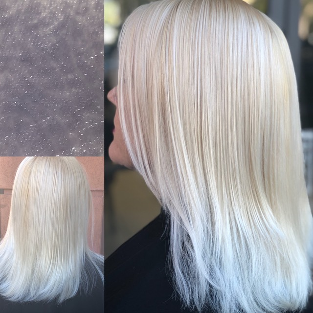 Bleach and tone with clear for a very translucent look