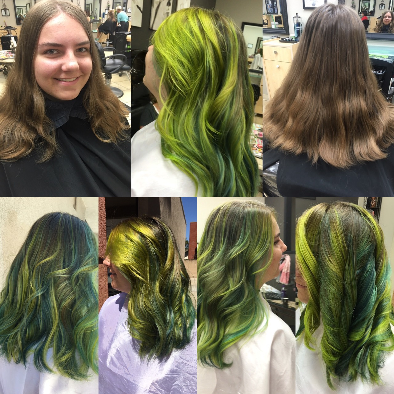 Mermaid Green teal ,yellow hair color by Martin Rodriguez