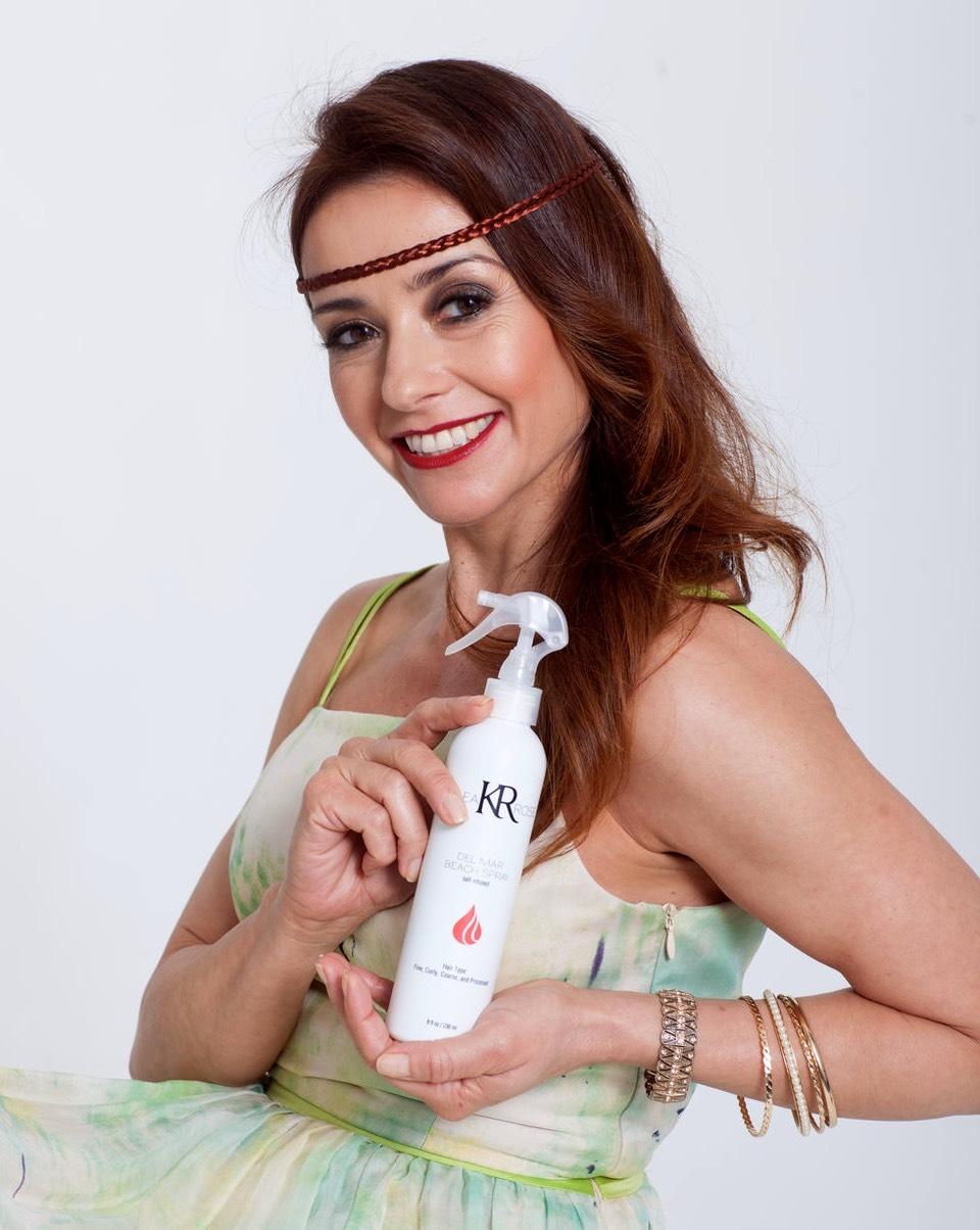 Actress Ruth Livier Del Mar Beach Spray Orange County Hair Stylist Martin Rodriguez Ooh La
