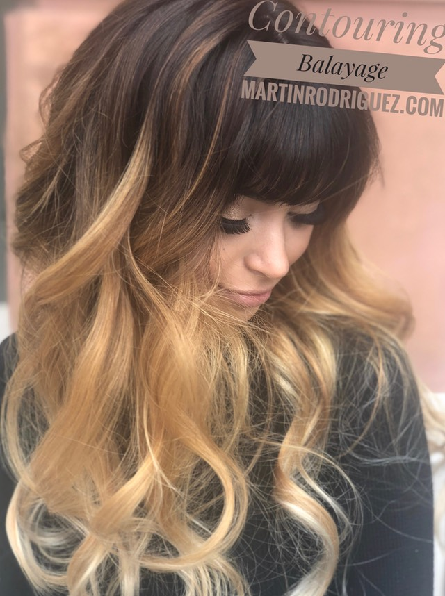 Balayage hair color on all types of hair