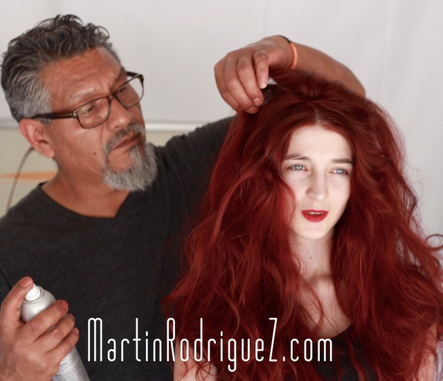 Red hair coloring by Martin rodriguez