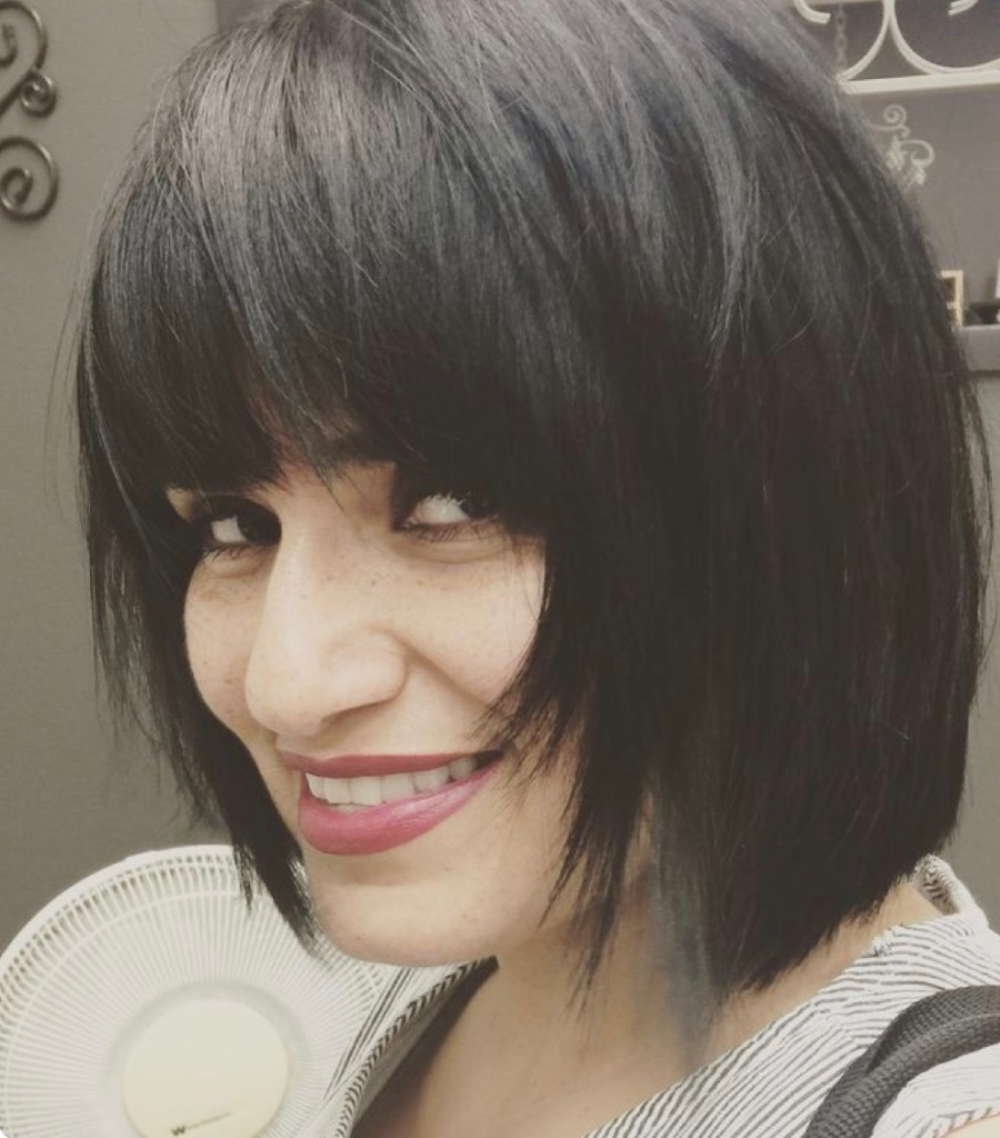A bob hair cut with texture and layers works great for fine then hair.