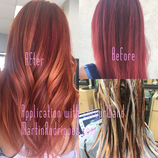 Hair color correction by Martin rodriguez hair colorist orange county ca