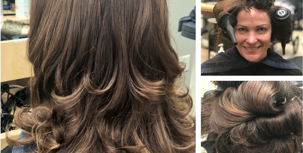 hair color painting for brunettes
