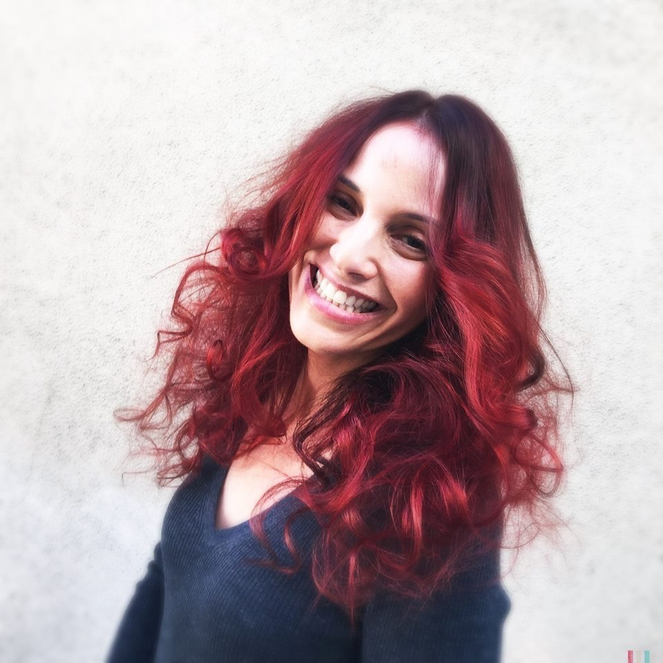 Long red hair color by Martin