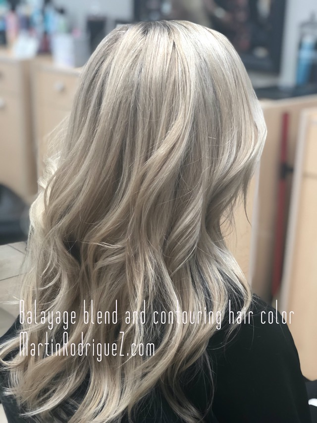 Blended balayage color and youthful looking hair color 2018