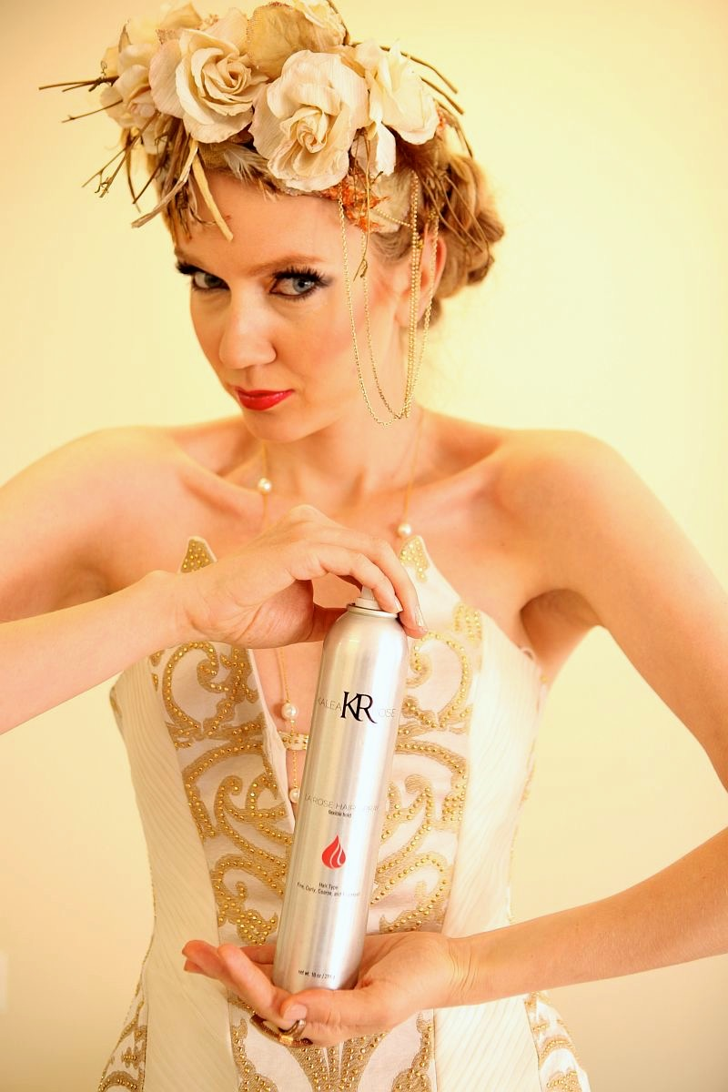 La Rose Hair Spray Olga Aleska Orange County Hair